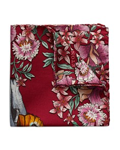 Eton - Floral Elephant Pocket Square