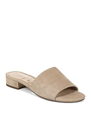Sam Edelman Sandals WOMEN'S KENZ BLOCK HEEL SLIDE SANDALS