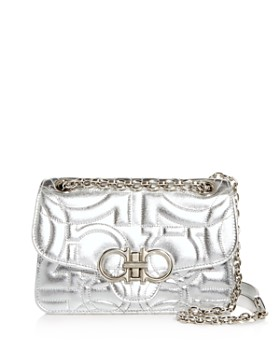 Salvatore Ferragamo - Gancini-Quilted Leather Shoulder Bag