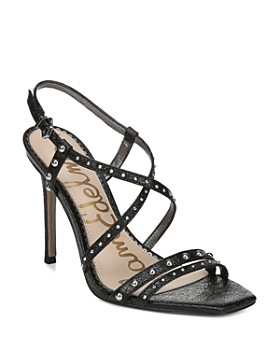 Sam Edelman - Women's Lennox Studded Metallic Leather High-Heel Sandals