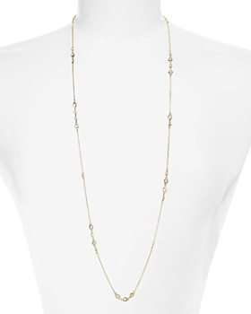 """Freida Rothman - Long Strand Necklace in 14K Gold-Plated Sterling Silver, 36"""""""