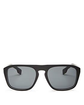 Burberry - Men's Check Square Sunglasses, 54mm
