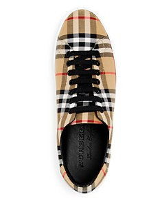 Burberry - Men's Albert Vintage Check Low-Top Sneakers