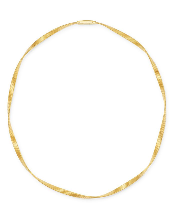 Marco Bicego 18K Yellow Gold Marrakech Twisted Collar Necklace, 16.5