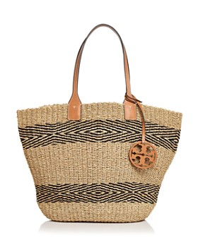 06290604017 Tory Burch - Miller Straw Striped Tote ...