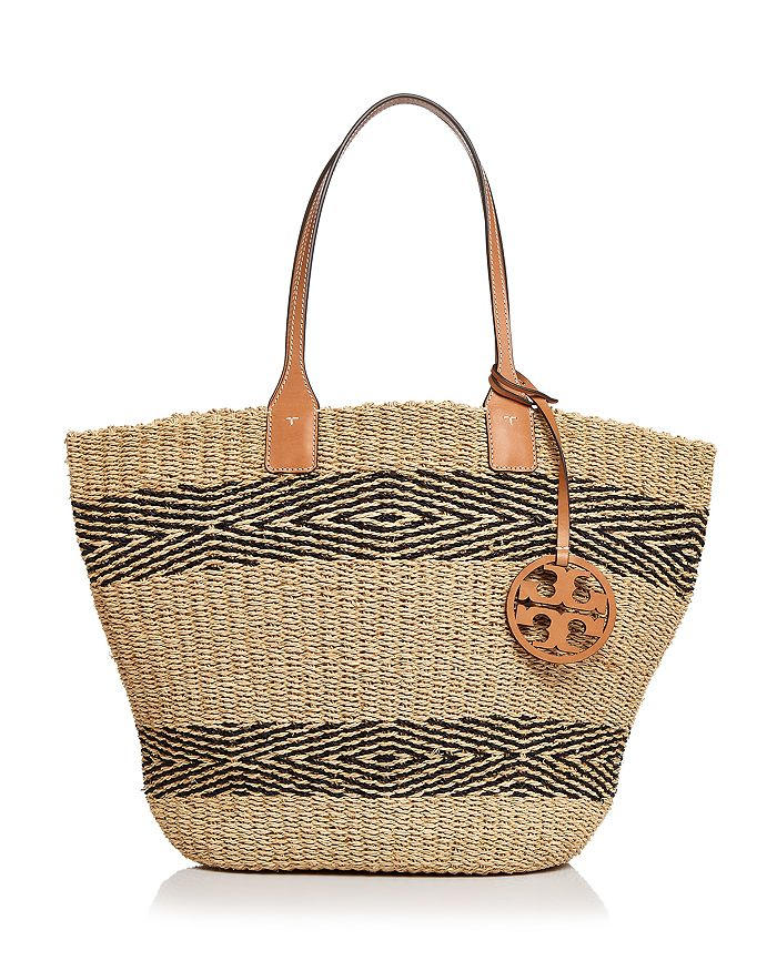 Miller Straw Striped Tote