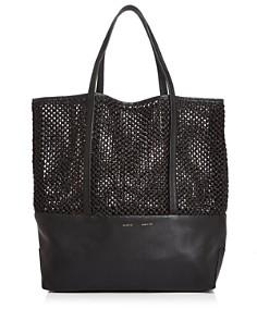 Alice.D - Large Leather & Raffia Tote