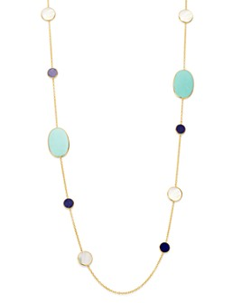 IPPOLITA - 18K Yellow Gold Polished Rock Candy Gemstone Station Necklace, 37""