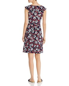 Leota - V-Neck Floral-Print Dress