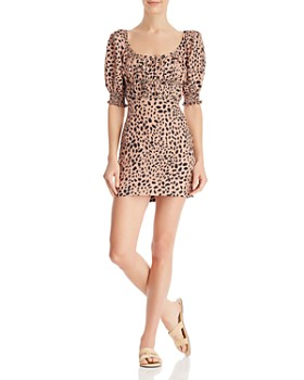 Fame and Partners - Animal-Print Mini Dress