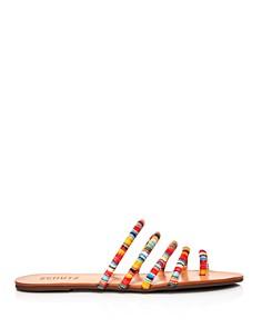 SCHUTZ - Women's Hadassa Multi-Colored Slide Sandals