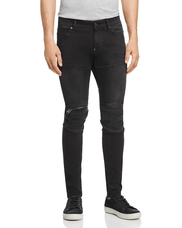 G-STAR RAW - 5620 3D Zip-Knee Skinny Fit Jeans in New Dark Aged