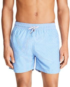 Retromarine - Groovy Lines Printed Swim Shorts