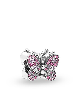 0f98cb656 Pandora - Sterling Silver & Cubic Zirconia Crystal Butterfly Charm