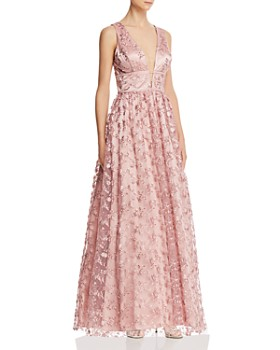 Avery G - Floral Embroidered Tulle Gown