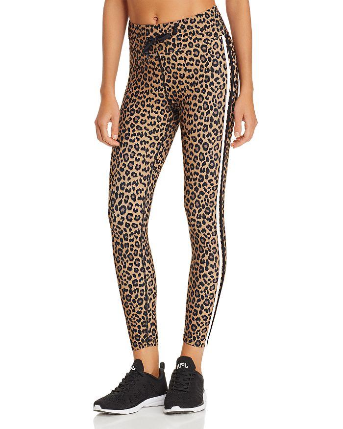AQUA - Track Stripe Leopard Print Leggings - 100% Exclusive