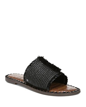150c84419d4 Sam Edelman - Women s Glenda Raffia Frayed Slide Sandals ...