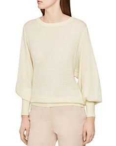 REISS - Abella Balloon-Sleeve Sweater