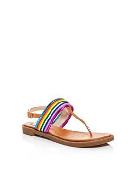 aaa52f2670a6 STEVE MADDEN - Girls  Jsense Thong Ankle-Strap Sandals ...