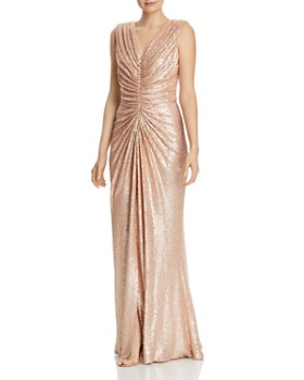 f5f6a6e0ea3 Tadashi Shoji - Sequined Ruched Gown ...