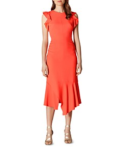 KAREN MILLEN - Ruffled Sheath Dress