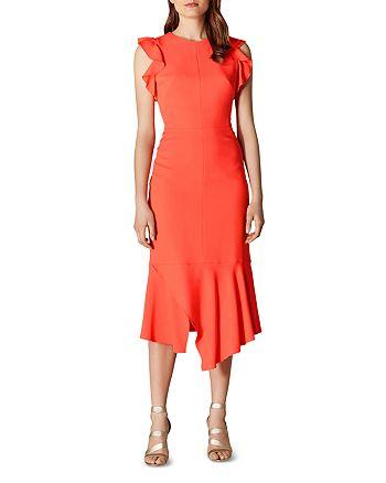 KAREN MILLEN - Ruffled Sheath Dress