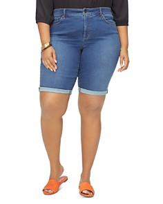 NYDJ Plus - Briella Cuffed Denim Shorts in Cooper