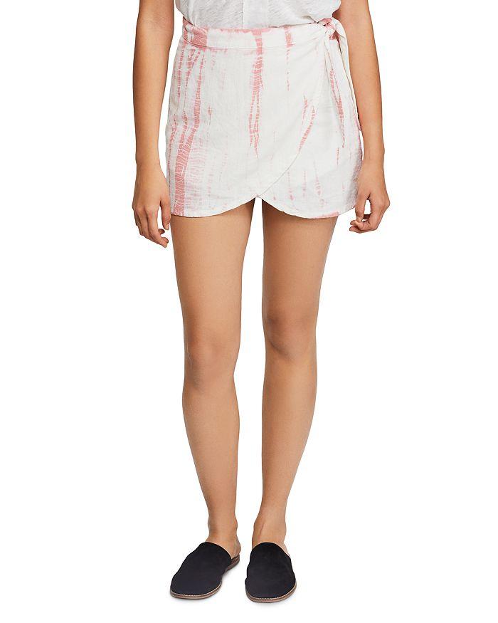 Free People - Ann Reed Tie-Dye Wrap Mini Skirt