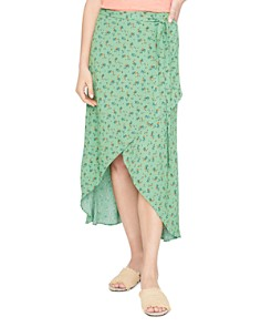 Sanctuary - Jamie Floral Faux-Wrap Midi Skirt