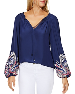 Ramy Brook Tops SHANESE EMBROIDERED TOP