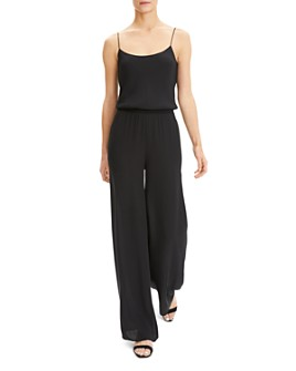 Theory - Wide-Leg Silk Jumpsuit