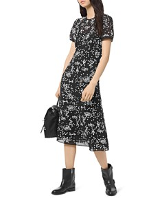 MICHAEL Michael Kors - Floral-Sequin Midi Dress