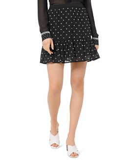 MICHAEL Michael Kors - Embellished Ruffled Mini Skirt