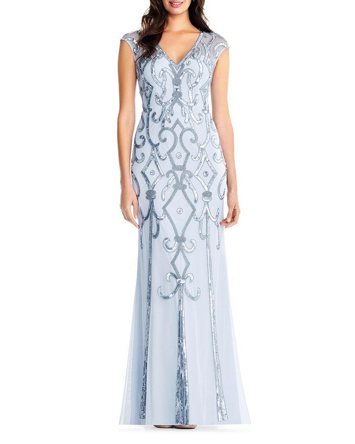 Aidan Mattox - Deco Embellished Gown