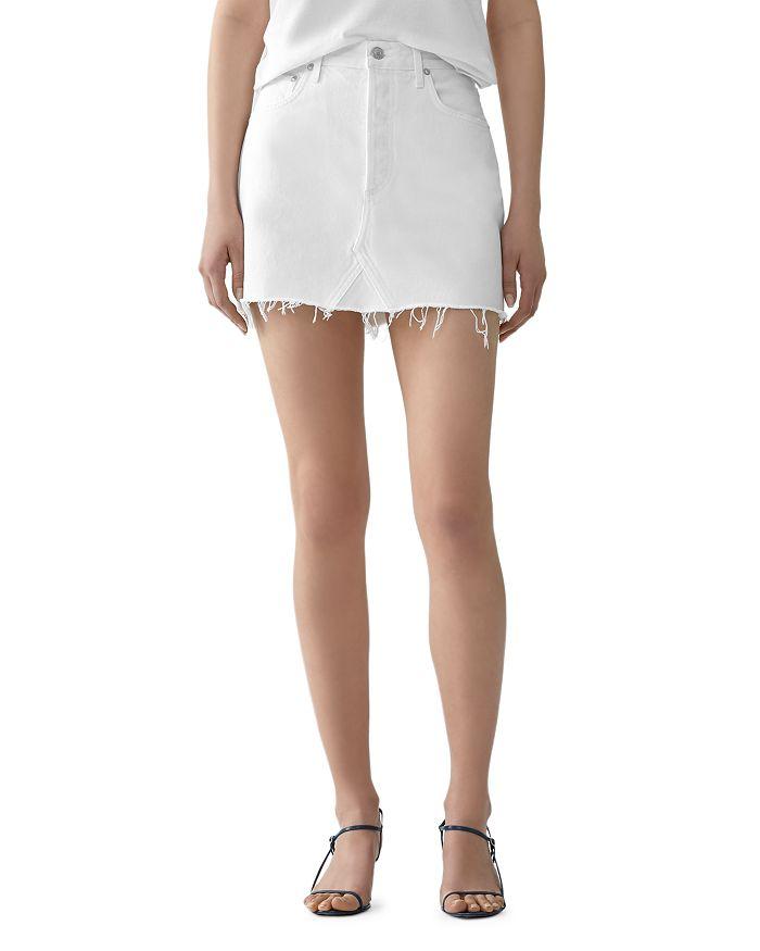 AGOLDE - Quinn Denim Skirt in Oyster