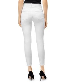 J Brand - Alana High-Rise Skin Jeans in White Krystal