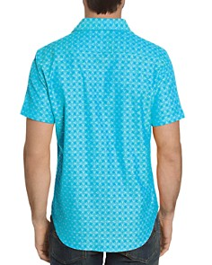 Robert Graham - Diamante Short-Sleeve Abstract-Pattern Classic Fit Shirt
