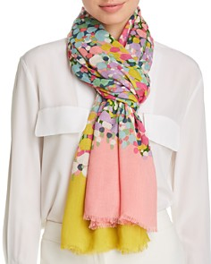 kate spade new york - Floral Dots Oblong Scarf