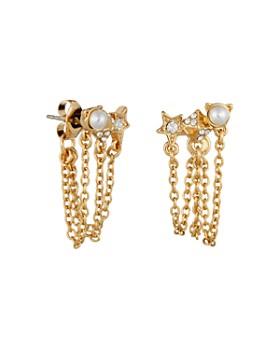 KARL LAGERFELD Paris - Mini Rocky Multi-Charm Chain Swag Earrings