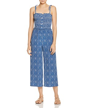 Paloma Blue - Stretch-Smocked Jumpsuit