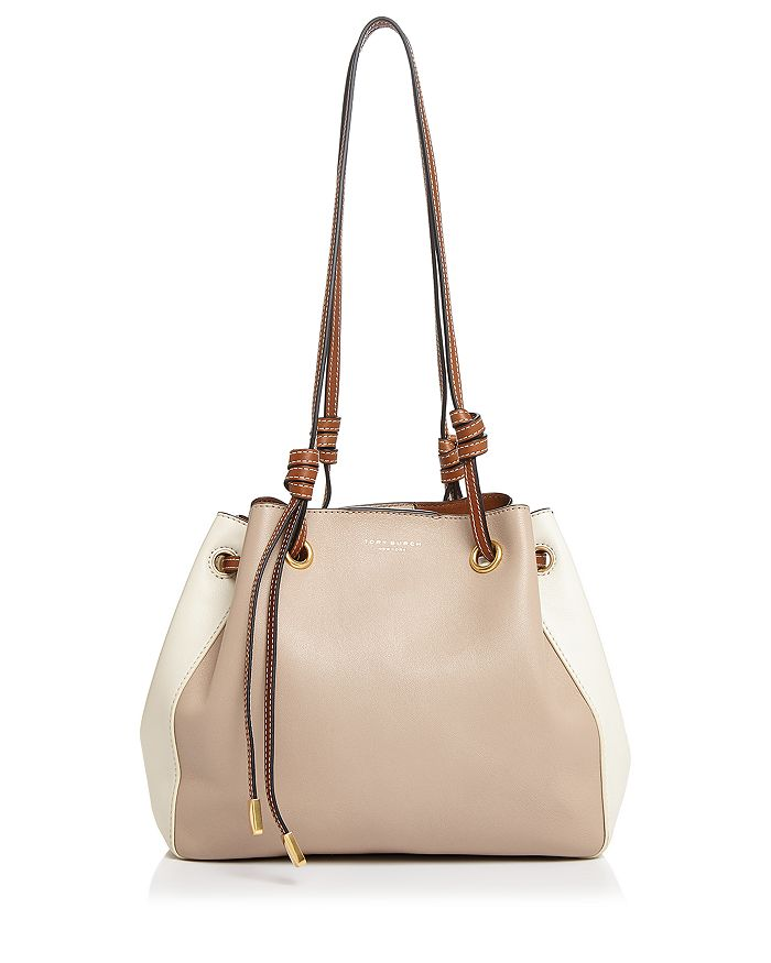 Tory Burch - Caroline Small Leather Color-Block Shoulder Bag