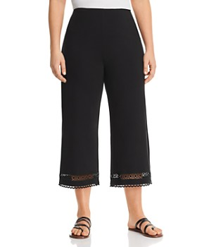 Lyssé Plus - Raya Lace-Trim Cropped Pants