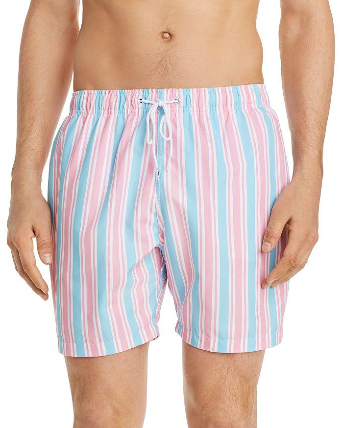 BOARDIES - Candy-Stripe Swim Trunks