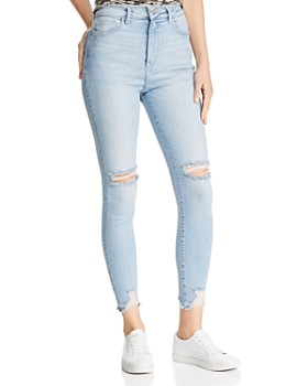 DL1961 - Chrissy Ultra High-Rise Crop Skinny Jeans in Lagunita