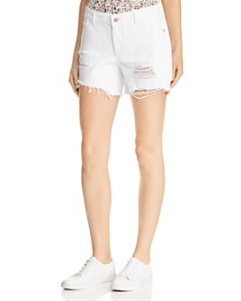 DL1961 - Karlie Shredded Boyfriend Denim Shorts in Howard