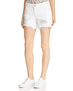 DL1961 Karlie Shredded Boyfriend Denim Shorts in Howard