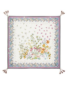 Johnny Was - Forest Floral-Print Silk Scarf