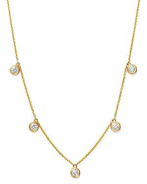 Bloomingdale's Diamond Bezel Set Droplet Necklace in 14K Yellow Gold, 0.75 ct. t.w. - 100% Exclusive