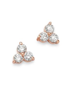 Bloomingdale's Diamond Three-Stone Stud Earrings in 14K Rose Gold, 0.35 ct. t.w. - 100% Exclusive