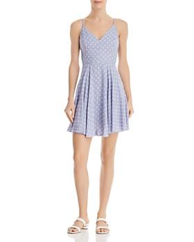 fba39d458e AQUA - Polka-Dot Fit-and-Flare Dress - 100% Exclusive ...
